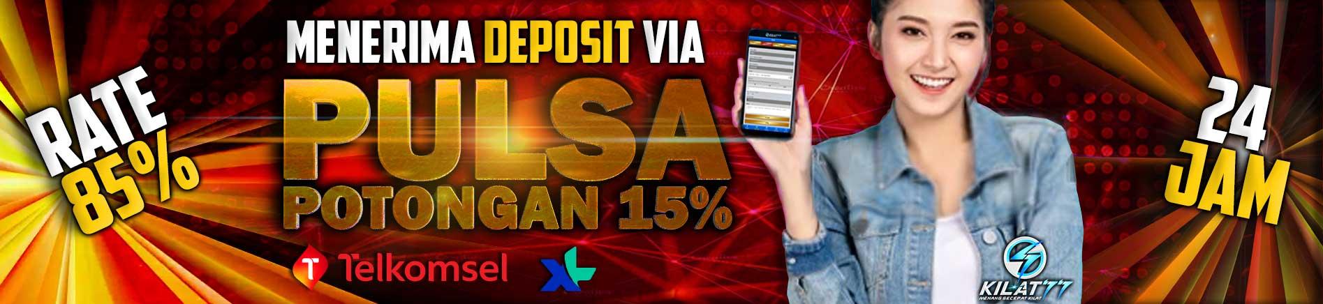 Deposit Pulsa rate 85%