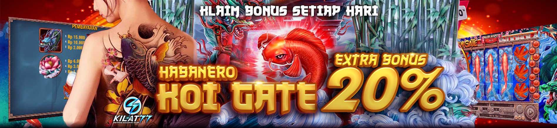Extra Bonus 20% Koi Gate